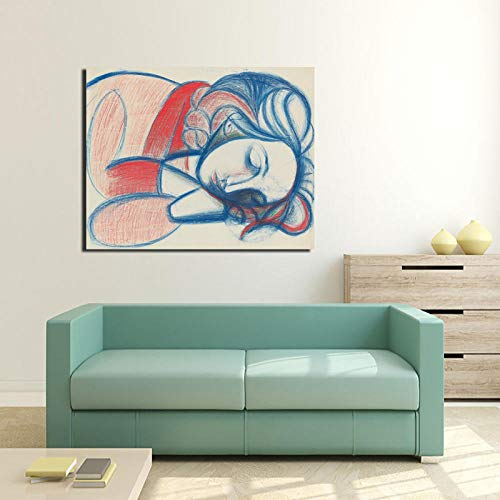 Chihie Pablo Picasso Sleeping Woman Canvas Painting Prints Living Room Home Decoration Modern Wall Art Oil Painting Posters Pictures 40x50cm Kein Rahmen