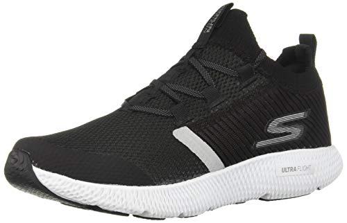 Skechers Women's Horizon Sneaker, Black/White, 7 M US