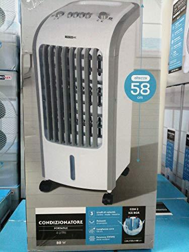 Condizionatore portatile ad acqua 85W basso consumo non inquina aria pulita filtri 4 litri