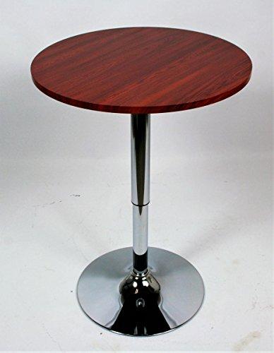 """Bistro Tisch Holz runde Holzplatte höhenverstellbar 84-104 cm -\""""Stuttgart\"""""""