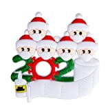 2020 Christmas Ornaments Quarantine Survivor Family-Christmas Decorations Clearance Personalized for Gift (1-7 Members) Christmas Tree Hanging Ornament DIY (6-Family-)