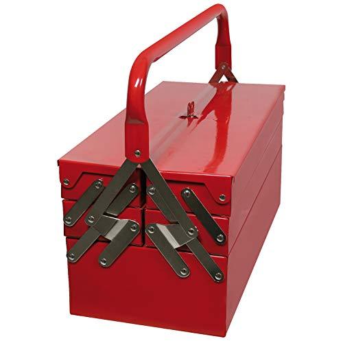 Valex 1453048 Werkzeugkiste, ausziehbar, 5 Fächer