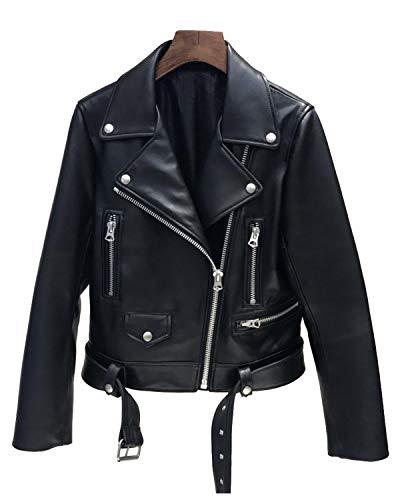 レディース レザー バイクジャケット 革ジャン オートバイジャケット大尺码 長袖 スウィート 防寒