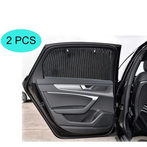 ZATOOTO Auto Sonnenschutz Baby - Sonnenschutz Auto Vorhang , mit Saugnapf Aufsatz, kann ultraviolette Strahlen blockieren und die Privatsphäre schützen (2 Scheiben)