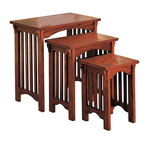 3-piece Nesting Table Set Warm Brown