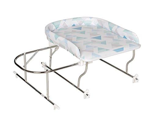 Geuther Combiné de Bain Varix, Table à langer PVC motif: Triangle + Support de Baignoire Coulissant