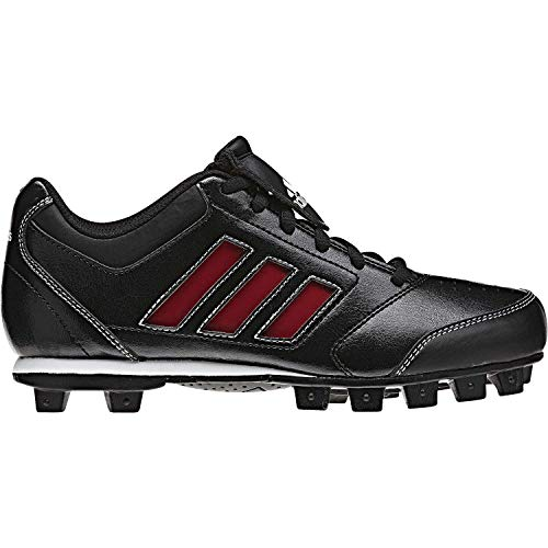 adidas Performance Change Up MD 2 K Baseball/Softball Cleat (Little Kid/Big Kid), Black/University Red/White, 2.5 M US Little Kid