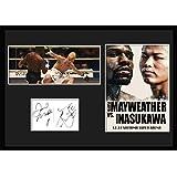 boxingFloyd Mayweather vs Tenshin Nasukawa/フロイド・メイウェザー・ジュニア 対 那須川天心/サインプリント&証明書付きフレーム-4