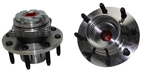 Detroit Axle - 515021 Front Wheel Hub & Bearing Assembly Replacement for 1999-2004 Ford F-250 / F-350 Super Duty 4x4 without ABS SRW - 2pc Set