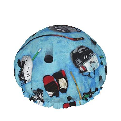 Equipo de hockey Gorro de ducha, Sombreros de pelo de baño,...