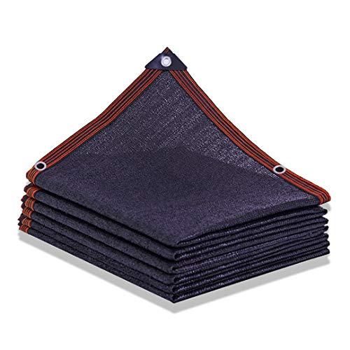 TYHZ Malla sombreo 80% Bloqueador Solar Pantalla de Tela Acoplamiento de la Red de Sombra con Ojales for jardín Patio, Negro Malla de sombreo (Size : 6X8m)