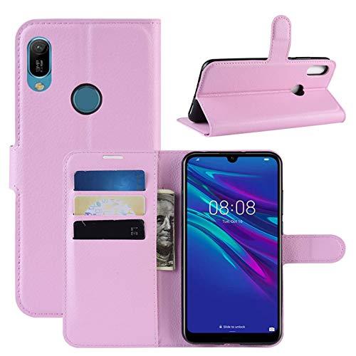 HualuBro Huawei Y6s Hülle, Premium PU Leder Stoßfest Klapphülle Schutzhülle HandyHülle Handytasche Wallet Flip Hülle Cover für Huawei Y6s Tasche (Pink)