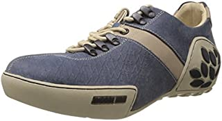 Woodland Men's Blue Leather Casual Shoes-40 Eu (1120111)