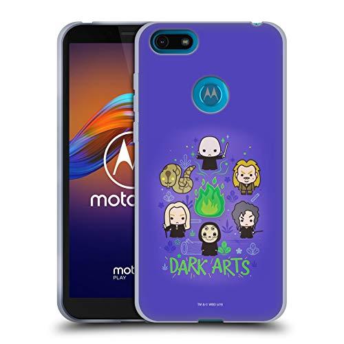 Head Case Designs Oficial Harry Potter Villains 2 Deathly Hallows III Carcasa de Gel de Silicona Compatible con Motorola Moto E6 Play