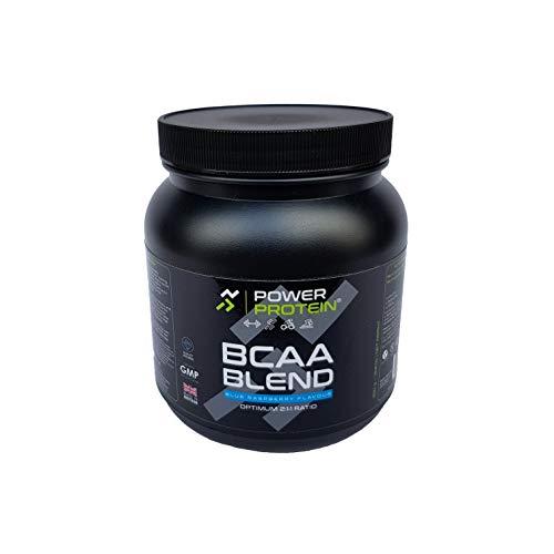 POWER PROTEIN BCAA Blend, Branch Chain Amino Acids Powder, 2:1:1 Ratio, Blue Raspberry, 250 g
