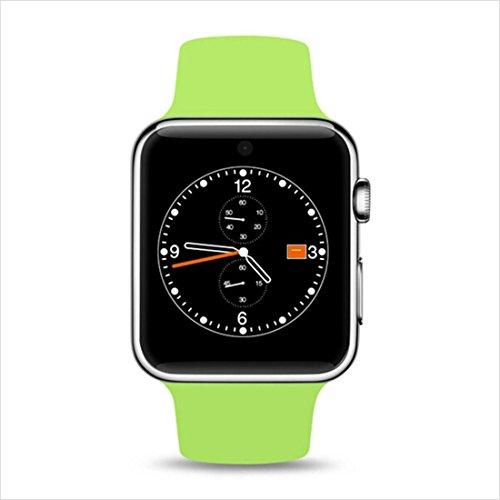 Bluetooth Smart Uhr ZC01 Bildschirm Unterstützung SIM-Karte Tragbare Geräte Smart Uhr Für IOS Android pk DM09 GT08 KW08, White