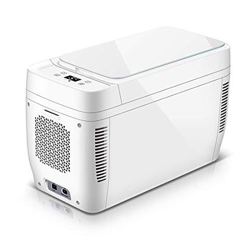 Mini refrigerador para automóvil de 20 L, LCD 12V ~ 220V Refrigerador de alimentación de doble entrada portátil y compacto, adecuado para dormitorio, cocina, oficina, dormitorio, viajes, camping (510x