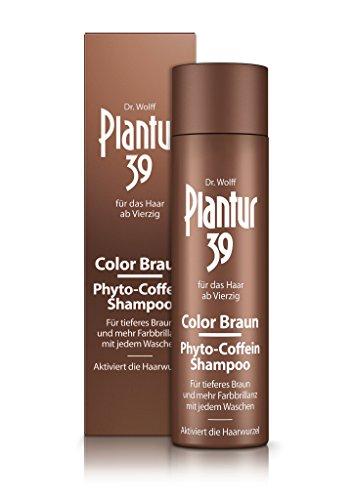 Plantur 39 Color Braun Phyto-Coffein-Shampoo – für braunes Haar – kaschiert graue Haare – Pflegeshampoo zur Vorbeugung vor menopausalem Haarausfall – 1 x 250 ml