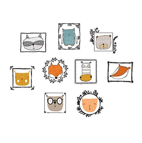 Dibujos animados búho zorro pared pegatina extraíble habitación de los niños sala de estar aplicación familia jardín de infantes divertido fondo de pantalla 85 * 112cm
