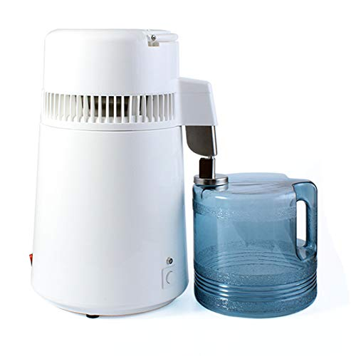 1,1 Gallon / 4 L Wasser-Destillierapparat Wasser-Destillation Kit Edelstahl-Wasseraufbereitungs Distiller 750W Mit Verbindungs Flasche Glasbehälter Für Heim Aufsatz-,220v