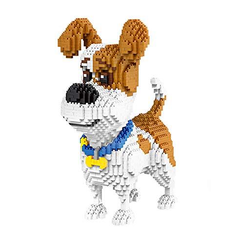 Aegilmctoys Mini Haustierhund Building Set, 3D-Puzzle Nano Bausteine Figur Gebaut Einem Modellbauset Spielzeug Bricks Haustier Bauen Bauklötze Spiel-Bausteine Weihnachts Geburtstag Geschenk,Beagle