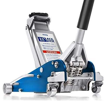 VViViD 3300 lb Race Jack - Low Profile Aluminum Steel Hydraulic Floor Jack