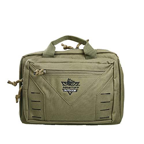 Mastiff Outdoor Green Tactical Pistol Case Handgun Bag Hunting Shooting Range Magazine Pouch