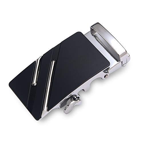 flintronic Cabeza de Cinturón Cuero Hombre, Cinturones Piel con Hebilla Automática, Sencillo y Clásico Perfecto Regalo