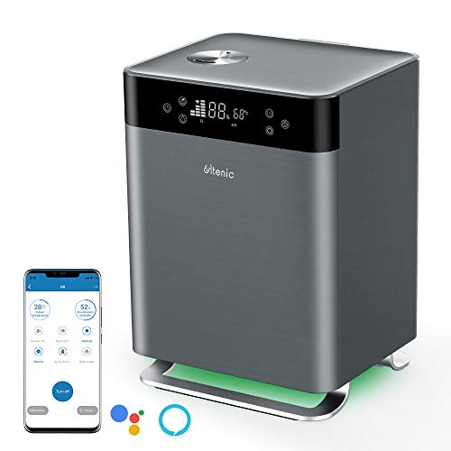 Ultenic H8 Humidifiers for Bedroom Top Fill, Warm and Cool Mist Ultrasonic Humidifier for Bedroom, Smart APP Control 4.3L Air Humidifier with Essential Oil Tray, Alexa & Google Home Compatible