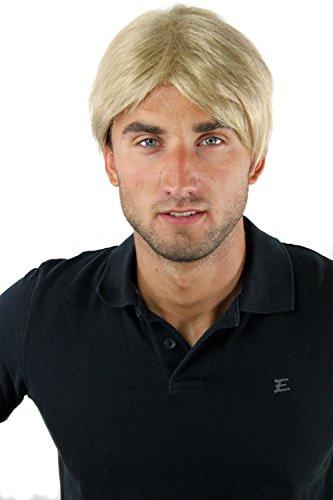 Perruque pour homme, courte et décontracté, style jeune, à la mode blond GFW-933-24