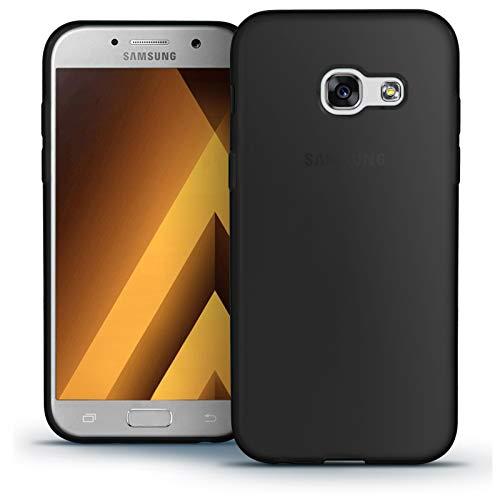 TBOC® Schwarz Gel TPU Hülle für Samsung Galaxy A5 (2017) A520F (5.2 Zoll) Ultradünn Flexibel Silikonhülle