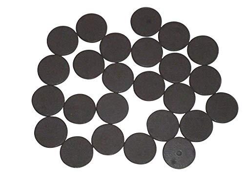 Lot de 25 aimants ronds – DM 25 mm x 3 mm pour bricoler, plat Aimants pour werkeln et décorer, Accessoires de bricolage magnétique, magnétique, aimants en ferrite