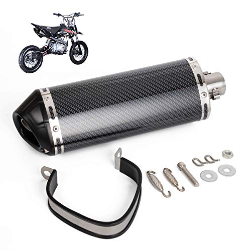 "Universal 1.5"" Inlet Stainless Steel Exhaust Muffler with Removable DB Killer Slip on Dirt Street Bike Motorcycle Scooter ATV Racing"
