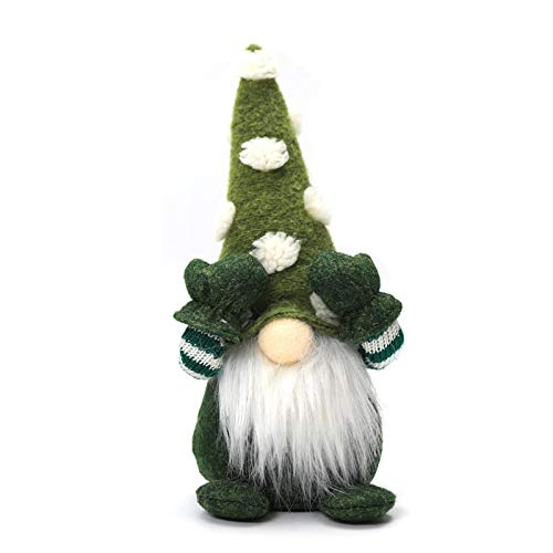 St. Patrick's Day Gonk Gnomes, Handmade Santa Gnome Faceless Plush Doll Figurine gonk Dwarf Elf Household Decoration Ornaments Valentine Day and St. Patricks Day Gifts for Women