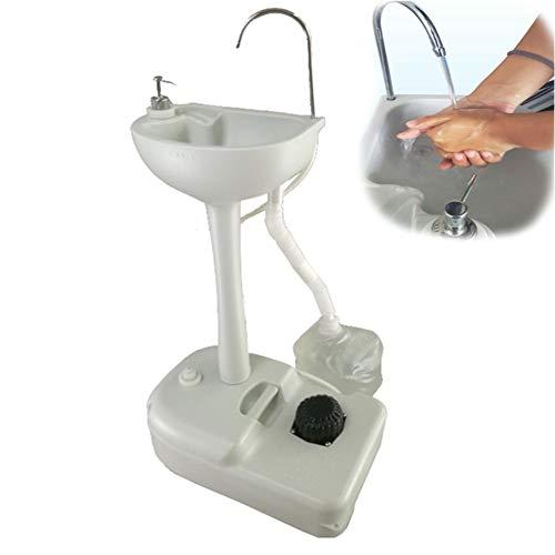 ZMIN Mobile Waschstation Freistehende Handwäsche Waschbecken Waschtisch Für Camping, Wohnwagen, Outdoor-Aktivitäten