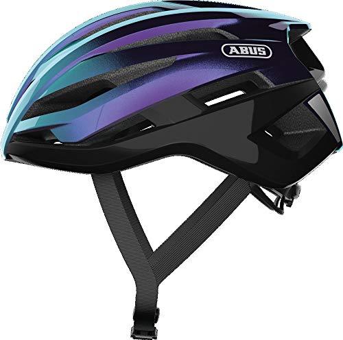 ABUS StormChaser Rennradhelm - Leichter und komfortabler Fahrradhelm für professionellen Radsport für Damen und Herren - Lila/Blau, Größe M