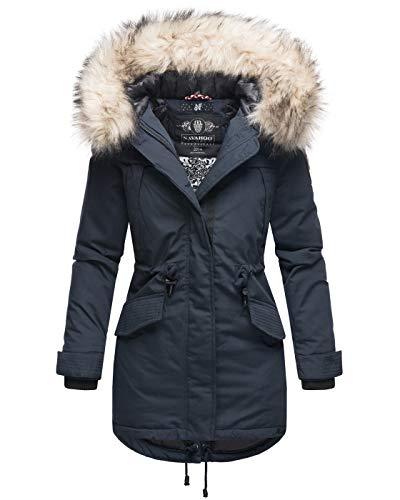 Marikoo dames winter jas parka mantel winterjas warm gevoerd B814