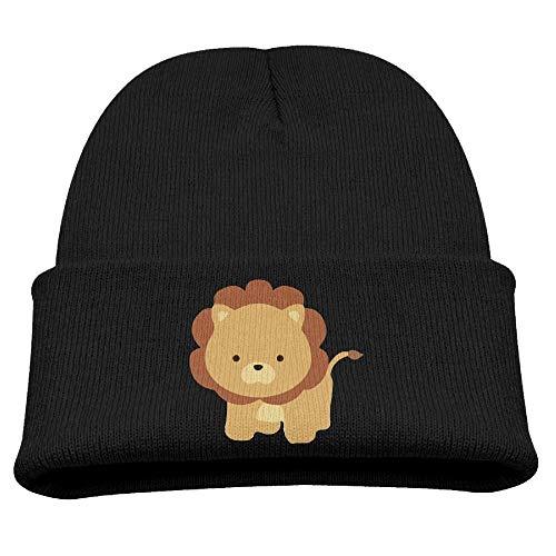 Fashion Funny hat ZWZ Lion Kid's Hats Winter Funny Soft Knit Beanie Cap, Unisex