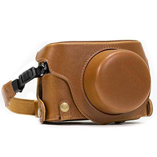 MegaGear MG663 Estuche para cámara fotográfica - Funda (Funda Protectora para el Cuerpo de la cámara, Panasonic, Lumix DMC-LX100, Marrón)