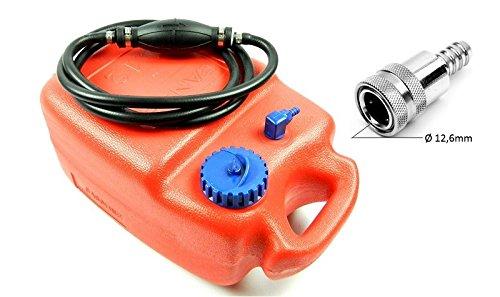 wellenshop Benzintank 12 Liter & Pumpball Anschluss kompatibel mit Tohatsu Nissan Nr. 5