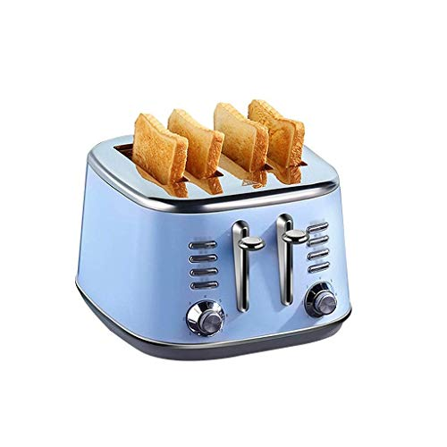 JYDQB Toasters 4 Slice Best Rated, Retro Small Toaster withl, Slot Compact Stainless Steel Bread Toasters for Bread Waffles Small Retro Toaster Oven