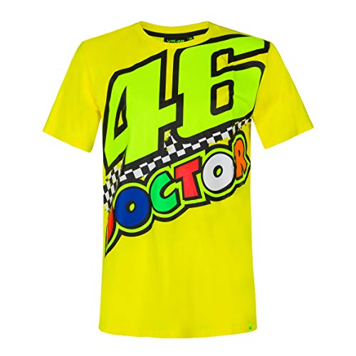 Valentino Rossi - Colección Vr46 Classic, Camiseta para Hombre, Hombre, Camiseta, TSSHIRTVR46MY, Amarillo, XS