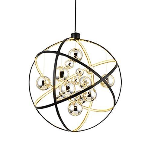 LIPENLI Luces pendientes, Postmodern Sala de estar Habitación Salón de la lámpara de la manera LED colgante redondo pasillo Diseñador de proyectos accesorio de iluminación de la lámpara pendiente de l