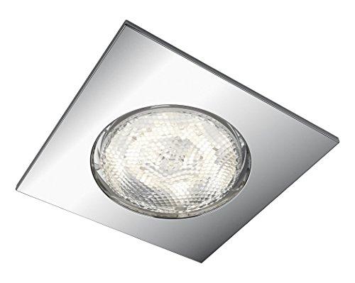 Philips myBathroom dreaminess Spot LED encastrable carré (Comprend 1 x 4,5 W LED, de Salle de Bain Sans danger)