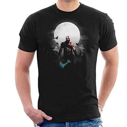God of War Kratos Moon Mens T-Shirt