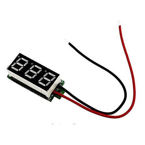 F-MINGNIAN-TOOL, 1 stuk 0,28 inch LED DC digitale voltmeter 0 – 100 V voltmeter auto mobiele power spanningmeter detector 12 V rood groen blauw geel
