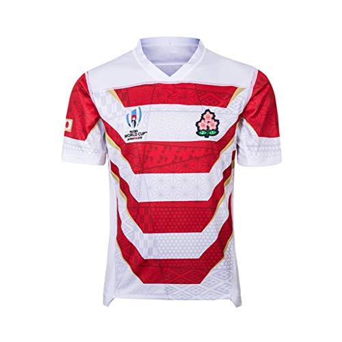 Rugby Hardware 2019 Copa Mundial de Japón en casa y Fuera del Desgaste del fútbol, los Hombres y Mujeres de Ropa Deportiva de Manga Corta (Color : Multi-Colored, Size : XXXL)