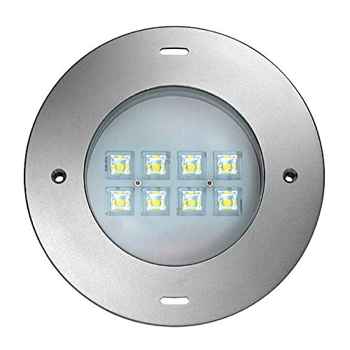 LED Unterwasserleuchte Schwimmbad-Scheinwerfer für Wand- und Bodeneinbau, 31W, 6000K, 4600lm, Edelstahl, IP68