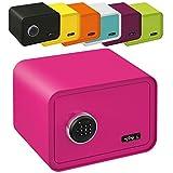 MySafe Tresor Design Safe - Caja fuerte (250 x 350 x 280 mm, código numérico, varios colores, verde, lila, rosa, azul/blanco, rosa)