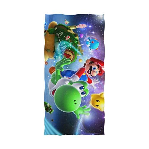 Olie Cam Super Mario Bros Toalla de baño Toalla de Playa Uso como Yoga Viajes Camping Gimnasio Toallas de Piscina en Carrito de Playa Sillas de Playa Talla única